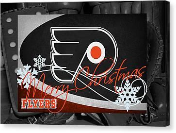 Philadelphia Flyers Christmas Canvas Print by Joe Hamilton