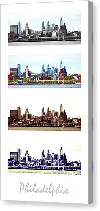 Philadelphia Four Seasons Canvas Print by Olivier Le Queinec