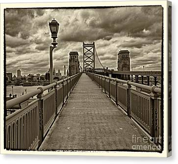Philadelphia From Ben Franklin Bridge 1 Canvas Print by Jack Paolini