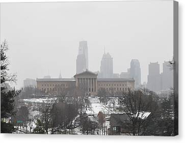 Philadelphia From Lemon Hill Canvas Print by Bill Cannon