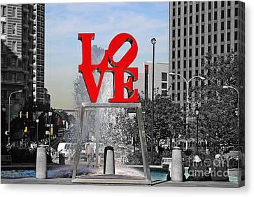 Philadelphia Love 2005 Canvas Print by John Rizzuto