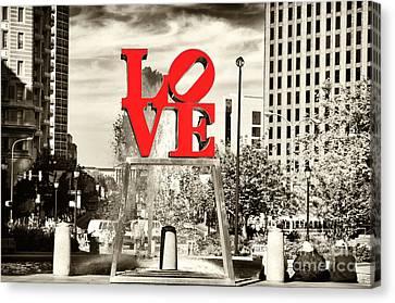 Philadelphia Love Mixed Canvas Print by John Rizzuto