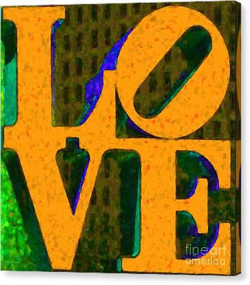 Philadelphia Love - Painterly V4 Canvas Print by Wingsdomain Art and Photography