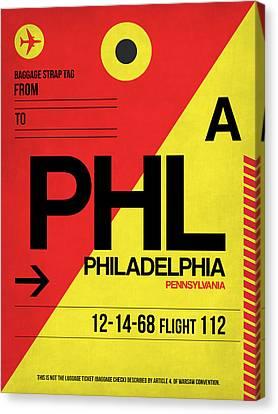 Philadelphia Luggage Poster 2 Canvas Print by Naxart Studio