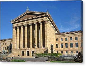 Philadelphia Museum Of Art Rear Facade Canvas Print by Olivier Le Queinec