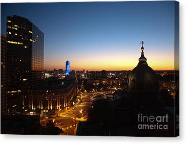Philadelphia Night Canvas Print by Tatianne Lugo