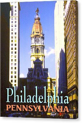 Philadelphia Pennsylvania - Poster Art Canvas Print by Art America Online Gallery