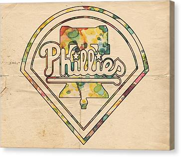 Philadelphia Phillies Poster Vintage Canvas Print by Florian Rodarte