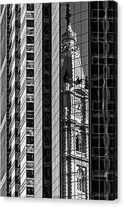 Philadelphia Reflections - Bw Canvas Print by Susan Candelario