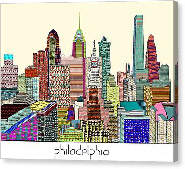 Philadelphia Skyline Canvas Print by Bri B