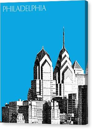 Philadelphia Skyline Liberty Place 1 - Ice Blue Canvas Print by DB Artist