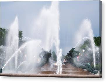 Philadelphia - Swann Memorial Fountain Canvas Print by Bill Cannon