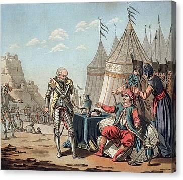 Philippe Villiers De Lisle-adam Refuses Canvas Print by Jacques Francois Joseph Swebach