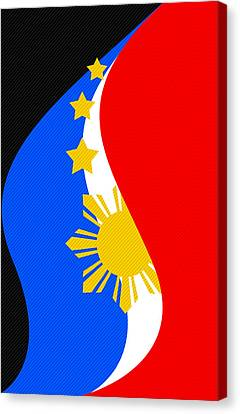 Philippine Flag Mobile Phone Case Design Canvas Print by Jerome Obille