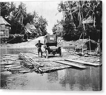 Philippines Bamboo Ferry Canvas Print by Underwood Archives