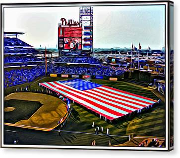 Phillies American Canvas Print by Alice Gipson