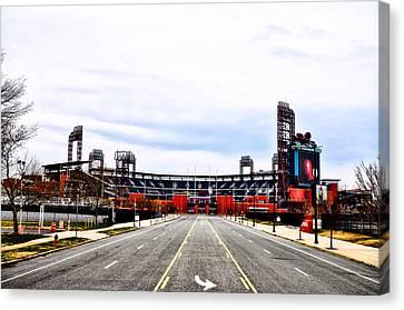Phillies Stadium - Citizens Bank Park Canvas Print by Bill Cannon