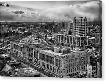 Philly Aerial View Canvas Print by Douglas Barnard