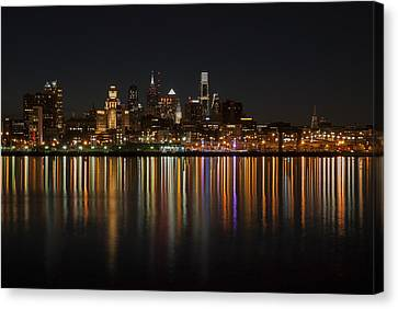 Philly Night Canvas Print by Jennifer Ancker