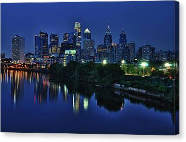 Philly Skyline Canvas Print by Mark Fuller