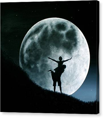 Philos Under A Full Moon Rising Canvas Print by Ric Nagualero