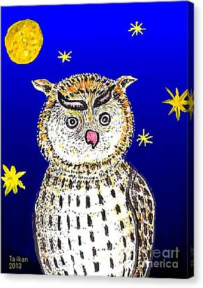 Philosopher In The Woods By Taikan Nishimoto Canvas Print by Taikan Nishimoto