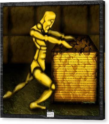 Philosophy Stone Canvas Print by Eloy Tamez olguin