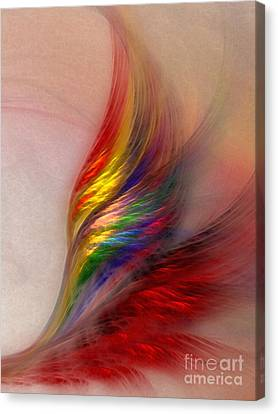 Phoenix-abstract Art Canvas Print by Karin Kuhlmann