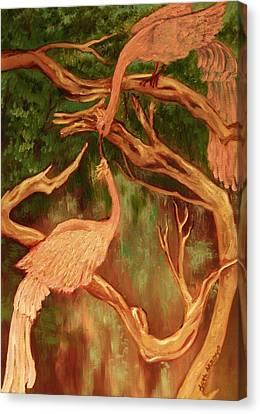 Phoenix-dares To Love Again Canvas Print by Beth Arroyo