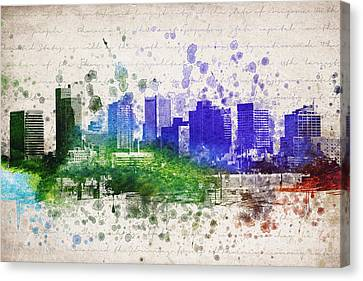 Phoenix In Color Canvas Print by Aged Pixel