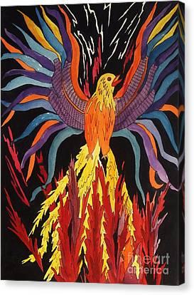 Phoenix Rising Canvas Print by Ellen Levinson
