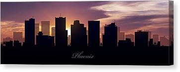 Phoenix Sunset Canvas Print by Aged Pixel