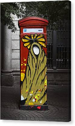 Phone Home - Oporto Portugal Canvas Print by Mary Machare
