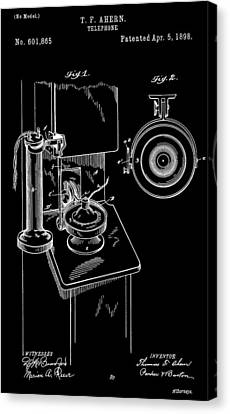 Phone Patent Canvas Print by Dan Sproul