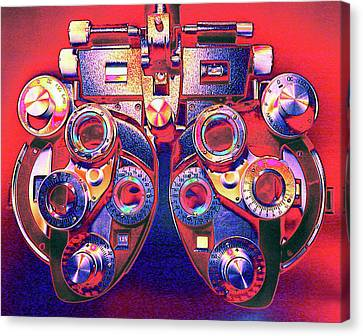 Phoropter Canvas Print by Larry Berman