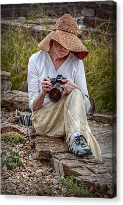 Photographer Canvas Print by Linda Unger