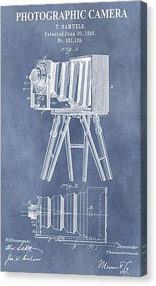 Photographic Camera Patent Canvas Print by Dan Sproul