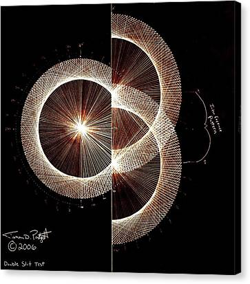 Photon Double Slit Test Hand Drawn Canvas Print by Jason Padgett
