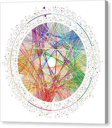 Pi Transition Paths Canvas Print by Martin Krzywinski