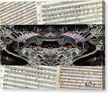 Piano Barojazz Scores Canvas Print by Ha Imako