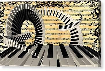 Piano Keys  Canvas Print by Louis Ferreira