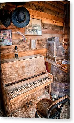 Piano Man Canvas Print by Cat Connor