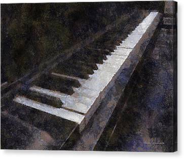 Piano Photo Art 01 Canvas Print by Thomas Woolworth