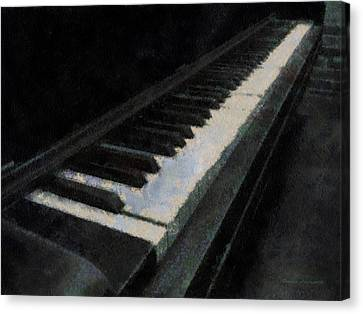 Piano Photo Art 02 Canvas Print by Thomas Woolworth