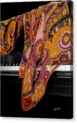 Piano With Scarf Canvas Print by Madeline Ellis