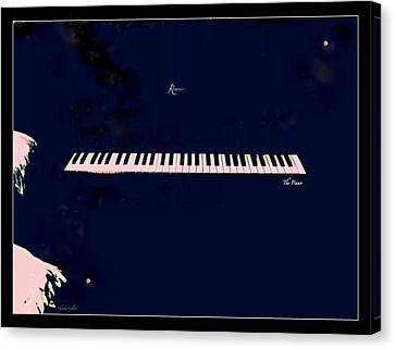 Piano Canvas Print by YoMamaBird Rhonda