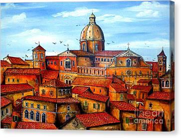 Piazza Armerina Sicily Canvas Print by Roberto Gagliardi