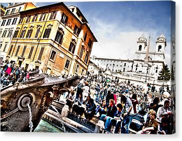 Piazza Di Spagna Canvas Print by Francesco Zappala