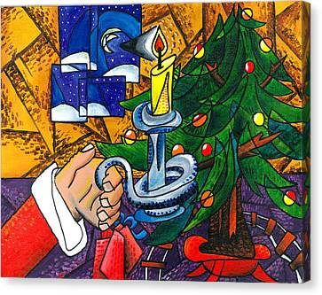 Picasso Style Christmas Tree - Cover Art Canvas Print by E Gibbons