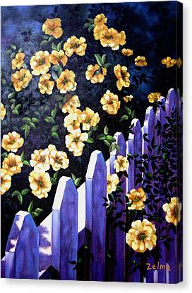 Picket Fence Canvas Print by Zelma Hensel